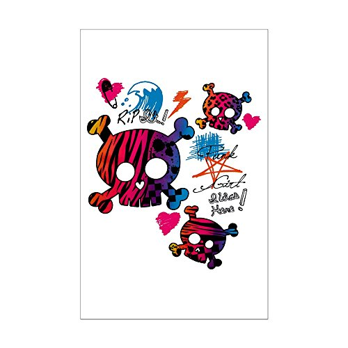 (Mini Poster Print Punk Girl Skulls Peace Symbol)