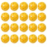20Pcs Durable Whiffle Hollow Perforated Plastic Golf Practice Training Balls Hot