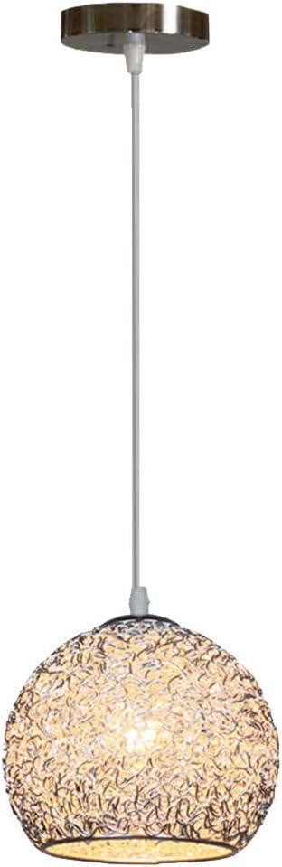 Iluminación del Techo Colgante,Lampara Aluminio para Techo,E27 110-240V Luz Casquillo Interior Foco para Cafeteria Bar Pub Restaurante Casa (Plata)