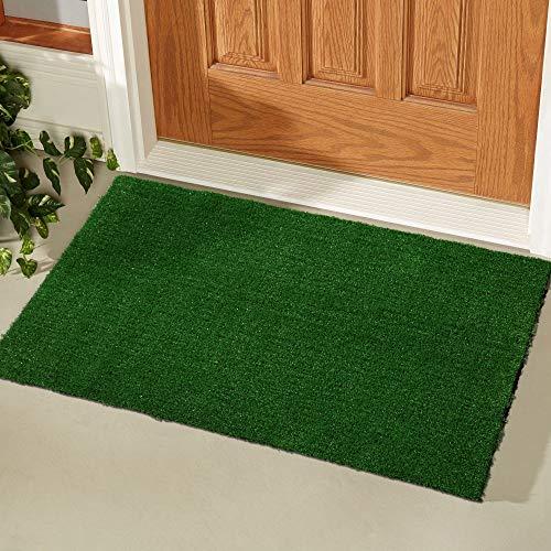 Ottomanson R250-20X30 Evergreen Collection Indoor/Outdoor Turf Solid Design Doormat,20