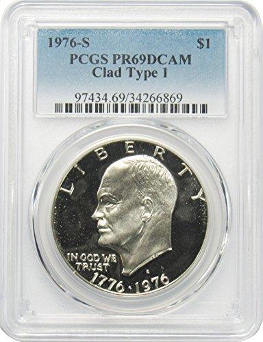 1976 S Eisenhower Ike Dollar $1 PR69DCAM PCGS Clad Type 1