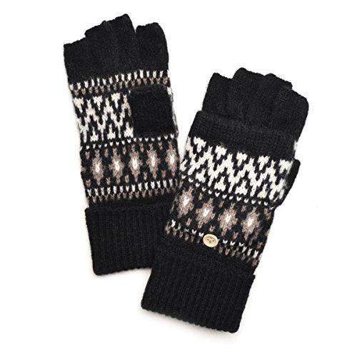 結果放散する仲間(トライバル)TRIBAL ノルディック柄 2way ミトン手袋