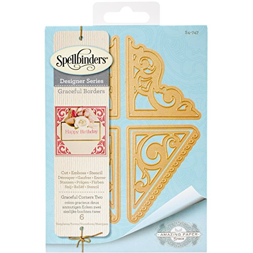 Spellbinders S4-747 Card Creator Graceful Corners Two Etched/Wafer Thin - Corner Die