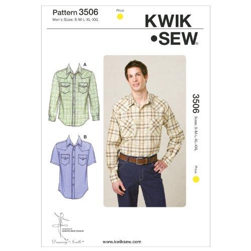 - Kwik Sew K3506 Shirts Sewing Pattern, Size S-M-L-XL-XXL