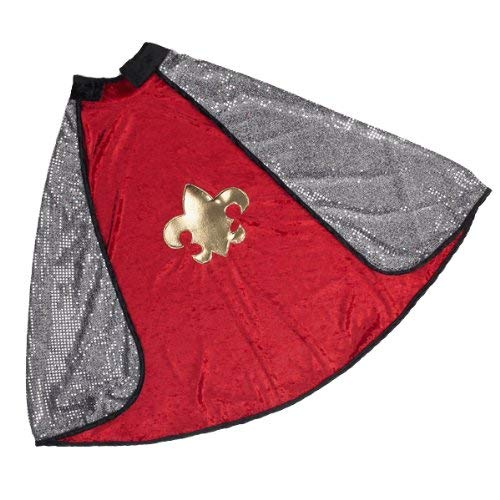 Great Pretenders Reversible Red-Silver King-Knight Cape (Medium)
