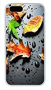 Case For HTC One M7 Cover Nature Fall Rain PC Custom Case For HTC One M7 Cover Cover White