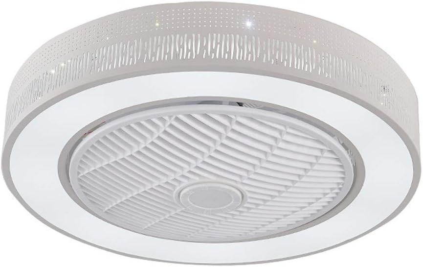 Z-XLIN Ventilador de techo exquisito, Luz de techo moderna Ventilador Luz for sala de estar dormitorio Oficina Nursery iluminación decorativa del ventilador del ventilador LED de luz de techo con tres