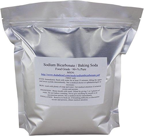 P Pure Sodium Bicarbonate Powder Highest Quality Organic Food Grade ORMI Listed Pure Baking Soda, 1 lb. ()