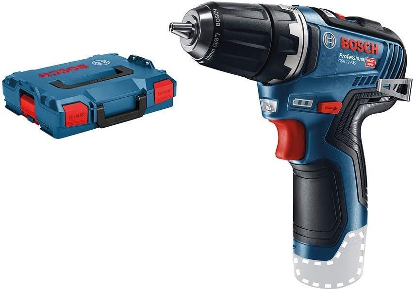 Bosch Professional GSR 12V-35 - Atornillador a batería (12 V, 35 Nm, sin batería, en L-BOXX)