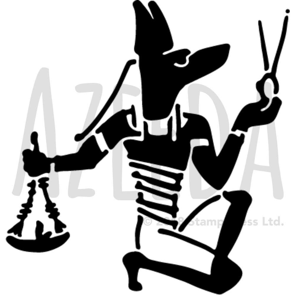 A5 'Dios Egipcio' Plantilla de Pared / Estarcir (WS00037860) Azeeda