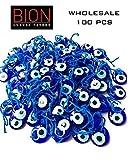 Bion, Evil Eye Beads, Talisman Charm Bag of Hundred (Blue Hundred - 1.36'')