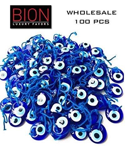 Bat Mitzvah Favor - Bion, Evil Eye Beads, Talisman Charm Bag of Hundred (Blue Hundred - 1.36