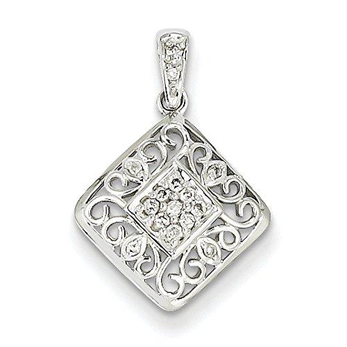 Or blanc 14 carats-Diamant JewelryWeb bruts