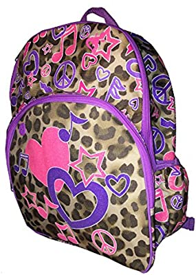 Amazon.com  Brand New With Tags Girls Justice Backpack BookBag Tote  Messenger Purple With Stars  Computers   Accessories 2d95b3776021f