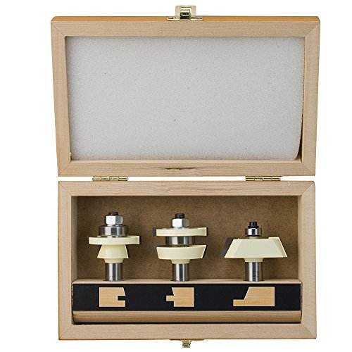 Shaker Door Set with 22 1/2 Degree Angle Router Bit Set - 3Pc Set by Stone Mountain