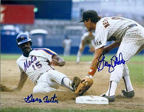 George Foster and Graig Nettles autographed photo (1980s baseball legends Mets Padres) size 8x10 - Autographed MLB Photos