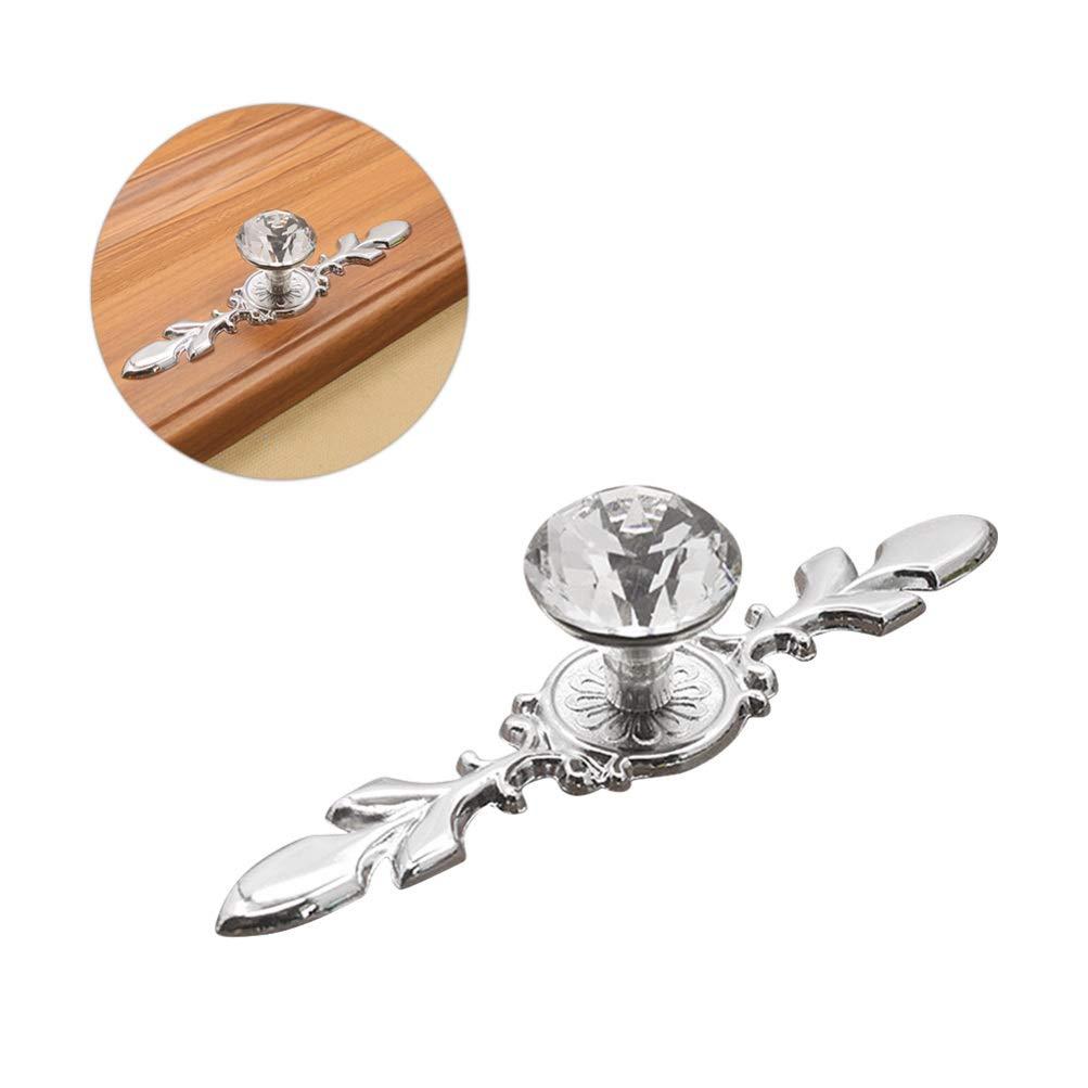 Vosarea 2 st/ücke schublade kommode kn/öpfe zuggriffe kristallglas diamant knopf mit platte schubladenschrank kleiderschrank griff f/ür wohnzimmer k/üche schlafzimmer