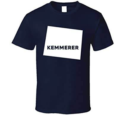 Kemmerer Wyoming Map.Amazon Com Kemmerer Wyoming City Map Usa Pride T Shirt Clothing