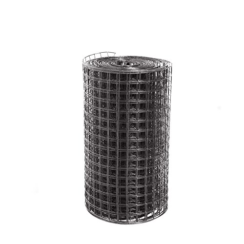 (Fencer Wire 16 Guage Black Vinyl Coated Welded Wire Fence, 2ft. by 100ft. Mesh 1.5