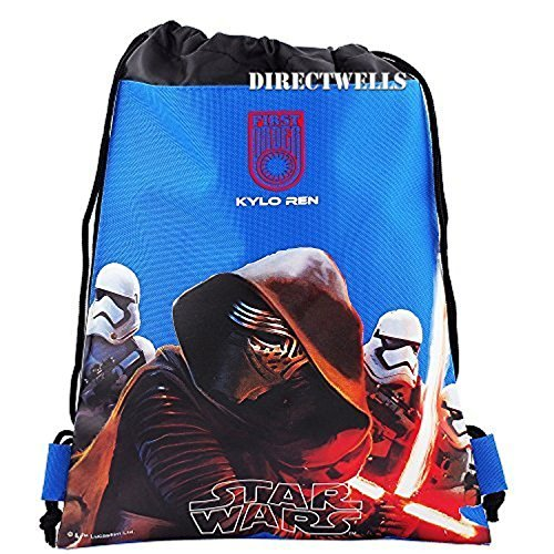 Disney Star Wars Authentic Licensed Drawstring Bag Backpack (Blue)