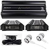 Orion XTR2500.4 XTR Series 2,500 Watts RMS 4-Channel Bridgeable Xtreme Amp Class AB Stereo High Performance Car Speakers Amplifier with Free Alphasonik Earbuds