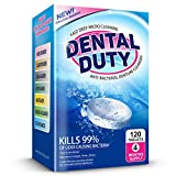 120 Retainer and Denture Cleaning Tablets (4 Months Supply) - Cleaner Removes Bad Odor, Plaque, Stains from Dentures, Retainers, Night Guards, Mouth Guards & Removable Dental Appliances. Made in USA.