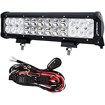 51wcdqW PFL._SL500_AC_SS350_ amazon com auxbeam 12 inch led light bar 72w 7200lm light bar cree led light bar wiring harness at soozxer.org