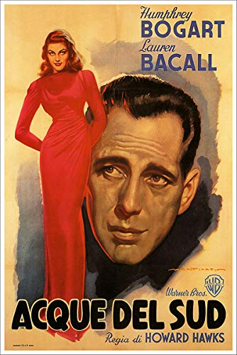 American Gift Services - to Have and Have Not Acque Del Sud Vintage Humphrey Bogart Lauren Bacall Movie Poster - 24x36