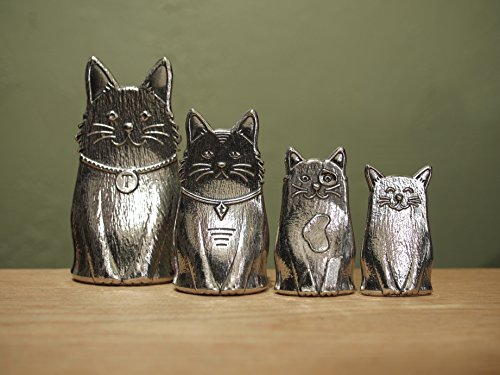 (Family of Cats Pewter Measuring Spoons)