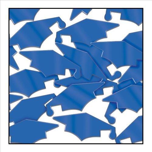 - Beistle Blue Graduation Cap Foil Confetti