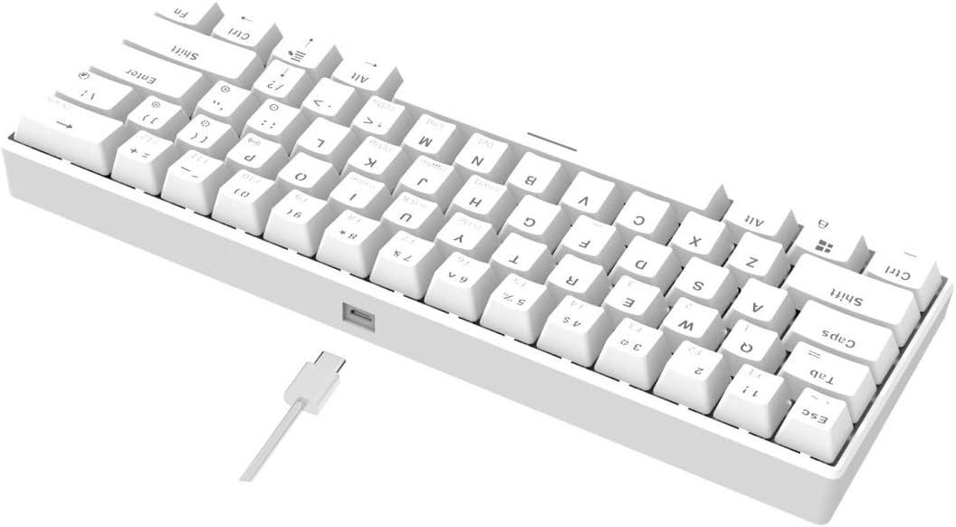 Color : Color2 JINGZ I610T 61 Keys Tablet Mobile Phone Computer Dual-Mode Mechanical Bluetooth Keyboard Premium Material
