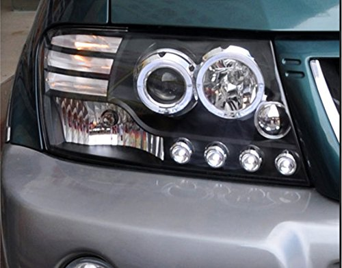 GOWE Car Styling For Mitsubishi Pajero V73 headlights For V73 LED head lamp Angel eye led DRL front light Bi-X Color Temperature:4300K;Wattage:35K 4