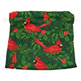 Dragon Sword Red Cardinal Birds Gift Bags Jewelry Drawstring Pouches for Wedding Party, 6x8 Inch
