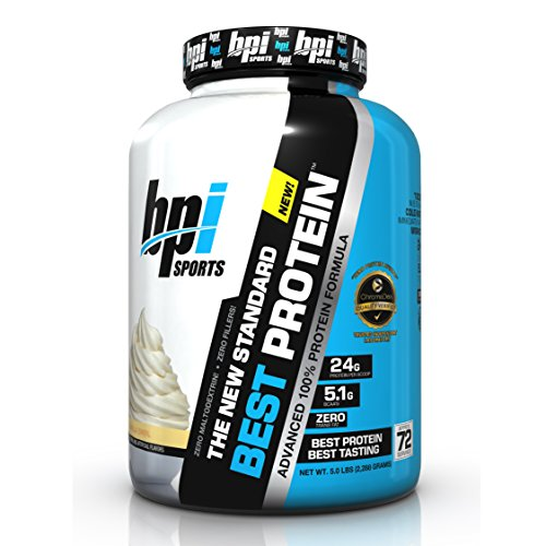 BPI Sports Best Protein Advanced 100% Whey Protein Formula, 24 Grams of Superior Whey Protein, Vanilla Swirl, 5 Pound