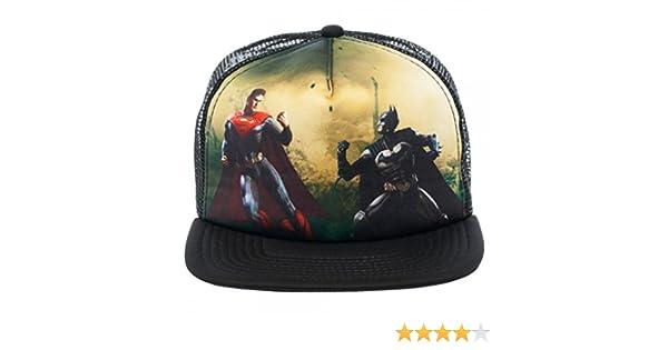 DC Comics Injustice Batman Vs. Superman Full Print Trucker Baseball Cap Hat  at Amazon Men s Clothing store  6e641ea868d