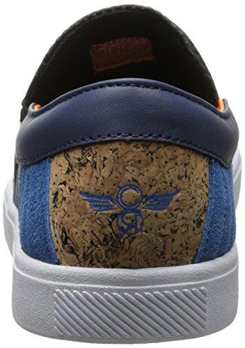 Creativo Ricreazione Mens Capo Moda Sneaker Nero Sughero Blu