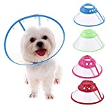 Yunt Recovery Pet Cone E-Collar for Dogs and Cats,with Breathable Soft Edge, Plastic Snap Closure(Small,Random Color)