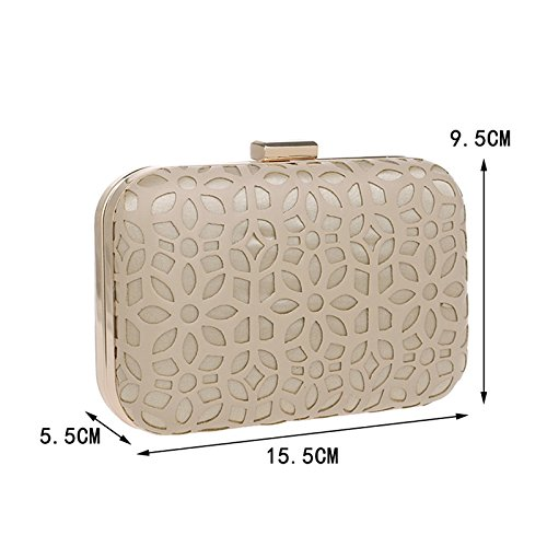 Bag Bag Bag PU Fashion Evening Dress Evening Banquet Clutch GROSSARTIG Gold Bag Lady 5IPx88w