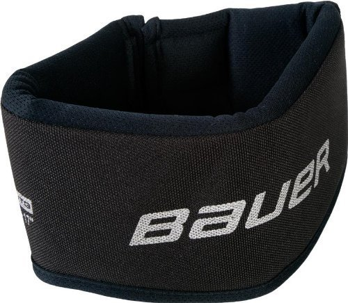 Bauer Senior NG NLP7 Core Neck Guard Collar, Black (Bauer Hockey Shirt With Neck Guard Youth)