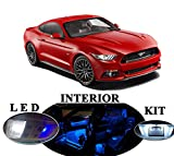 Ford Mustang Premium Blue LED Package Upgrade - Interior + License plate / Tag (8 pieces)