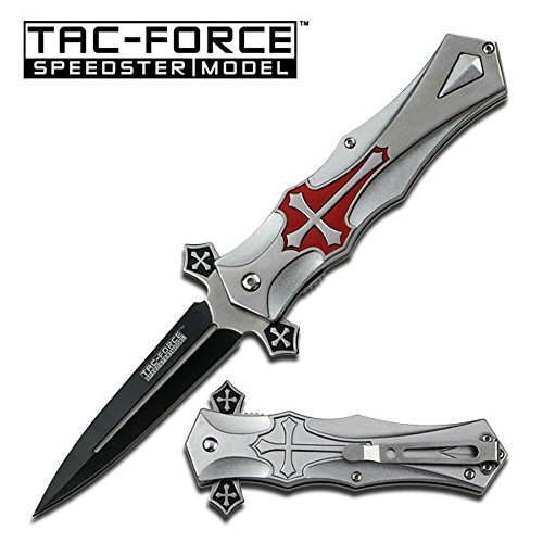 tac-force-red-cross-folding-blade-pocket-knife
