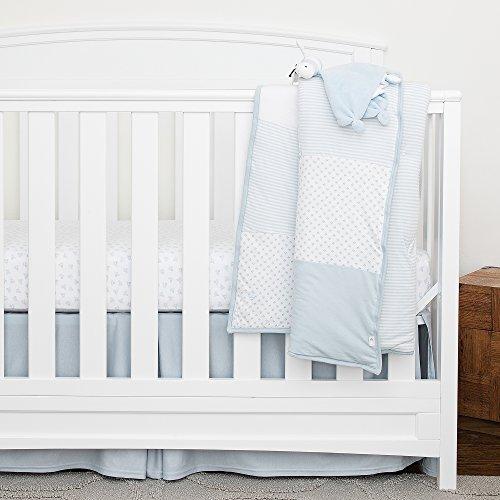 Burt's Bees Baby - Organic 5 Piece Crib Bedding Nursery Set, Sky (Dottie Bee)