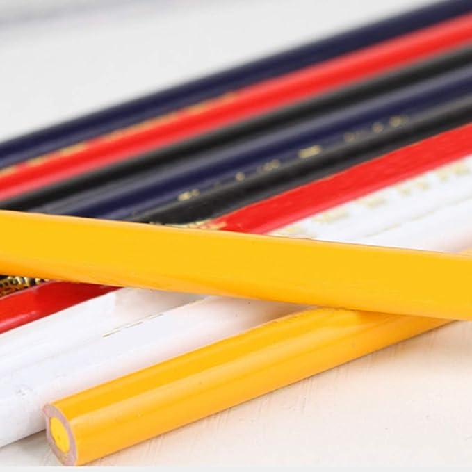 Farbe 25cm Länge lackiert schwarz 10 Zimmermannsbleistifte