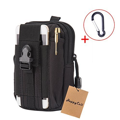 Utility Belt Pouch HappyCell edc Bag Tactical Pouch Molle Pouch Accessories Waist Bag with Cell Phone Holster Holder