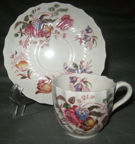 Spode Antoinette Demitasse Cup & Saucer (Footed)