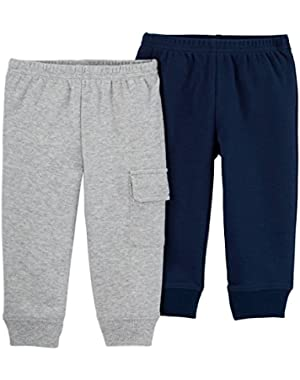 Carter's Just One You Baby Boys' 2 Pack Pants-Navy/Grey