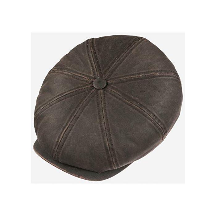 51wch6UGq8L LOOK DE CUERO // La superficie de esta gorra de caballero de ocho piezas parece de cuero engrasado, pero está compuesta de algodón revestido PROTECCIÓN SOLAR (40+) // Esta gorra de hule de ocho piezas dispone de un factor 40 de protección solar que no viene nada mal durante los días más soleados de verano 65% algodón; 35% poliéster