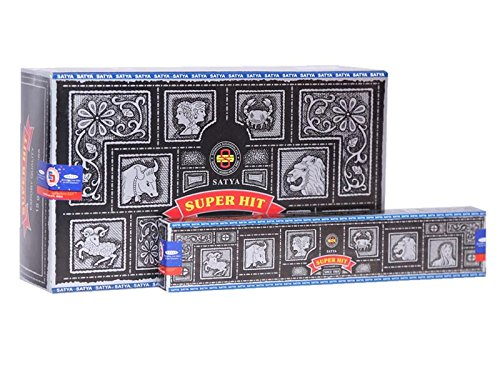 Satya Super Hit Incense Sticks (12 Packs x 15gm Incense Each)