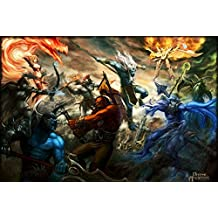 Run Fashion Hot Game Dota 2 Art Silk Scroll Poster Room Decor Picture Hot Janpan Defence Of The Ancients All Heroes 10