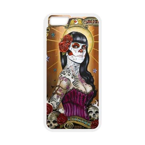 "LP-LG Phone Case Of Sugar Skull For iPhone 6 Plus (5.5"") [Pattern-6]"